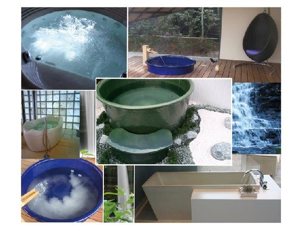 デザインバスタブ ジャグジー 信楽焼陶浴槽 マイクロバブルバス