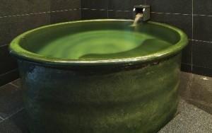雅癒 信楽焼セラミックバス 色:織部,しがらき風呂