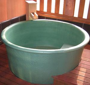 信楽陶器浴槽 丸形
