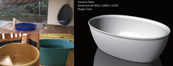 陶器浴槽セラミックバス